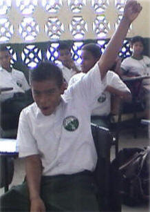 Jose Angel was the first to raise his hand